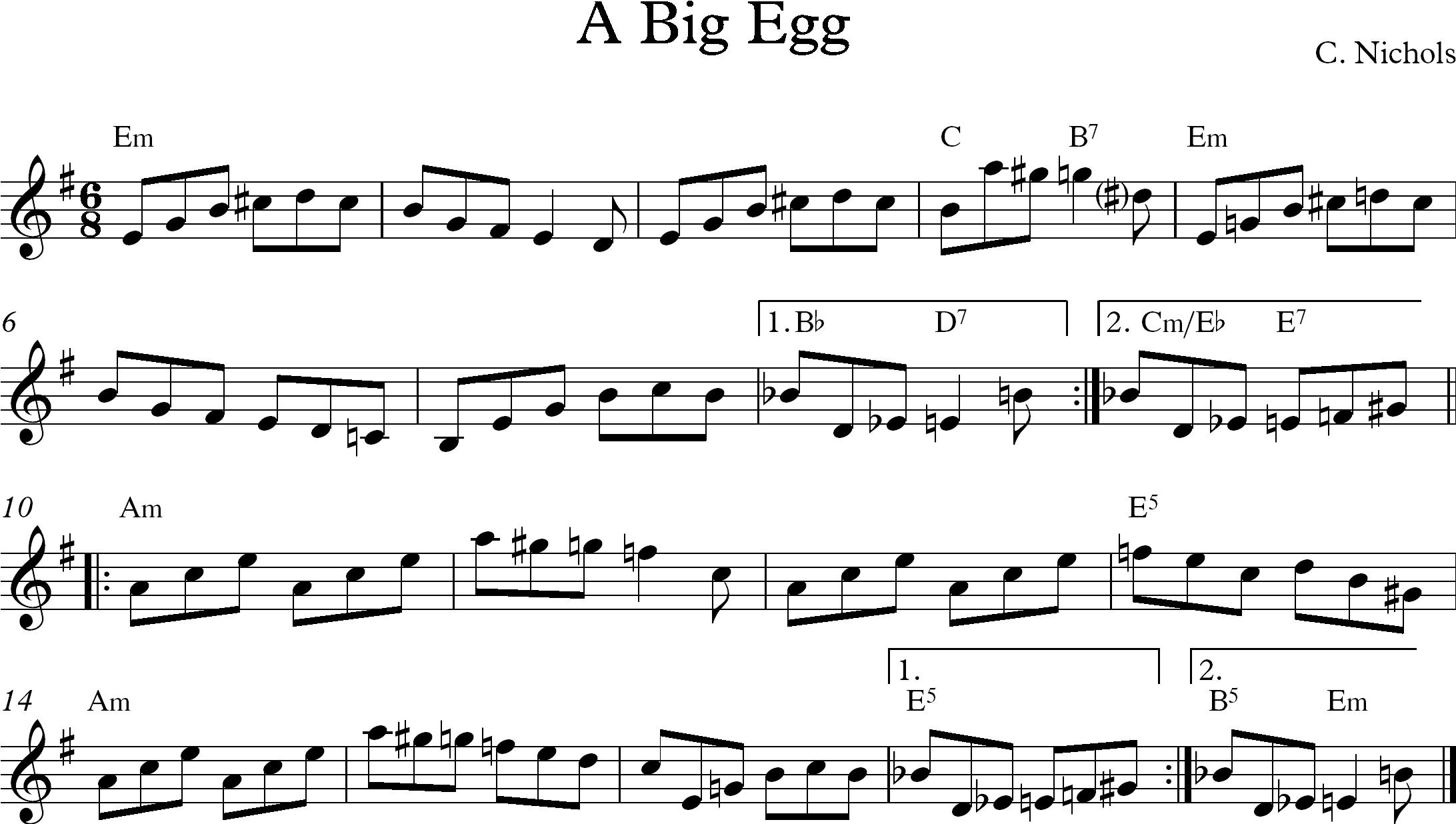 Big Egg Chris Nichols Tunes